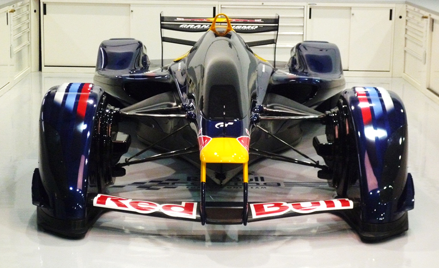 Life-sized Red Bull F1 Racing Car