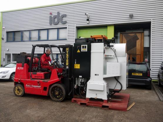 CNC Machine being loaded